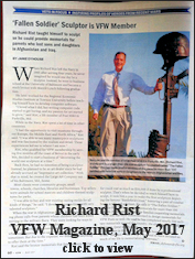 Richard Rist in VFW Magazine May 2017
