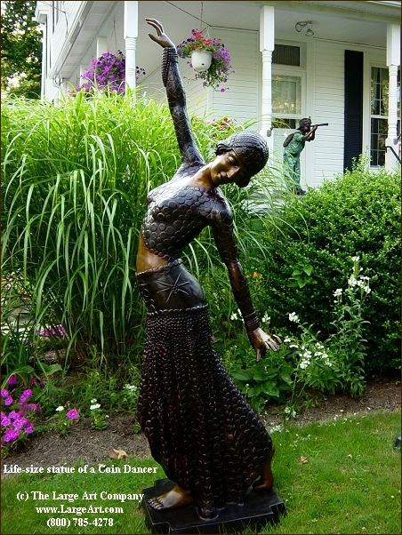 Landscape Garden Art : The large art company landscaping with bronze sculptures