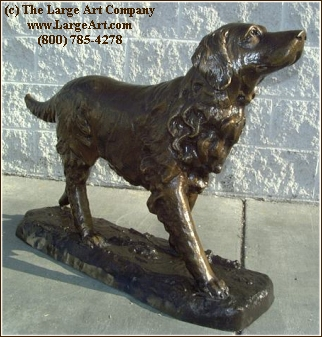 Charmant Golden Retriever | Life Size Animals | Garden | Life Size | The Large Art  Company Bronze Sculpture Statue