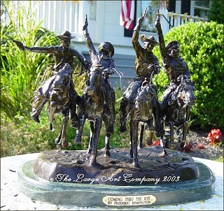 Frederic Remington Statue Of Coming Through The Rye 13 5 Frederic Remington Unique Gifts Birthday Christmas Anniversary Unique Gifts Birthday Christmas Anniversary Unique Gifts Birthday Christmas Anniversary The Large Art Company