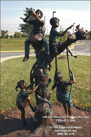 Merveilleux Bronze Outdoor Children Statue Garden Sculpture Of 5 Children Playing In A  Tree | Children | Garden | Unique Gifts Birthday, Christmas, Anniversary |  Unique ...