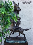 Buffalo Signal by Frederic Remington bronze statue